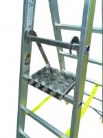 Einklappbare Arbeits- und Ablageplattform aus Aluminium