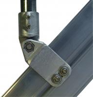 Treppenwangen-Anschlussstück mit Gelenk Serie 100