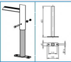 Fußplatten für gekürzte Leitern/Übergangsstücke