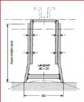 Verstellbare Wandbefestigungsbügel  für ebene und runde Bauwerke, Ø ≥ 120 mm.