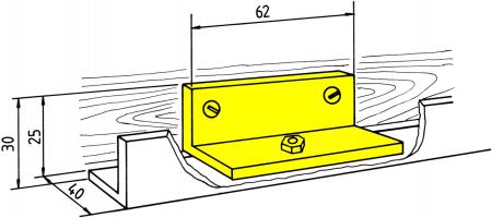 Schienenhalter (2 Stk.) in Winkelform