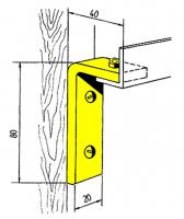 Schienenhalter (2 Stk.) gewinkelt