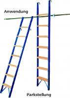 Anlegeleiter, Stahl/Holz mit Haken