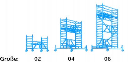 Gerüst, Bühnenlänge 1,80 m