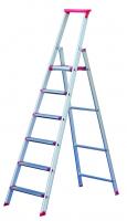 Stufenstehleiter mit Sicherheitsbrücke