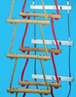Strickleiter mit Kunststoffseil