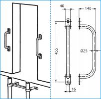 Haltegriffe für Sicherungsplatte (2 Stück)