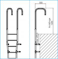 Holmbügel mit kurzen Schenkeln verlängert