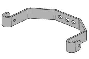 Mittige Wandbefestigung für Leiterholm Ø 34 mm LW 400