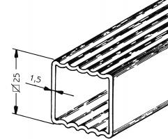 Quadratisches Sprossenprofil