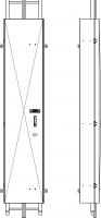Sicherungstür nach DIN 14094, DIN 18799, DIN EN ISO 14122 Teil 4, mit Öffnungsmechanismus