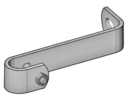 Standard Wandbefestigung für Leiterholm Ø 34 mm Abstand Mitte Holm 200 mm