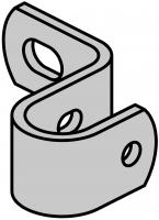 Standard Wandbefestigung für Leiterholm Ø 34 mm Abstand Mitte Holm 100 mm
