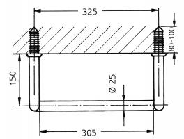 Steigeisen, Kernrohr aus Stahl