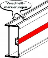 3-tlg. Schiebeleiter aus Aluminium