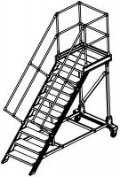Serie 100 S - Einseitig besteigbar  –  LW 600, incl. 2 Geländer