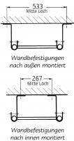 Grundleitern –  Holm-Ø 34 mm, U-Sprossen