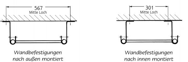 Grundleitern – Holm-Ø 34 mm,U-Sprossen