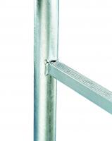 Grundleitern - Holm-Ø 48 mm, Rohrprofilsprossen