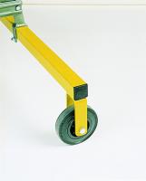 Montagetreppe mit Gitterrosten