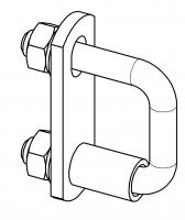 Bügelschrauben – eckig für U-Profil-Leitersprossen (inkl. 1 Distanzrohr)