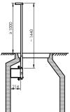 Einschiebbare Haltegriffe zur Montage an der Wand mit großem Bauwerkabstand
