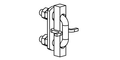 Fallschutzschienen-Verbinder