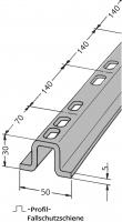 Fallschutzschiene aus Haca-Profil mit Lochung