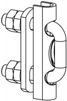 Fallschutzschienenverbinder mit Bügelschrauben