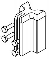Stoßverbinder für Einholm-Aluminiumleitern