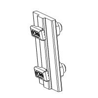 VARIO-RAIL Fallschutzschienenverbinder mit Zubehör, vormontiert