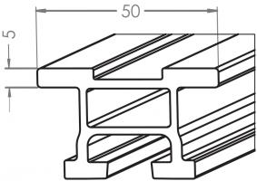 Fallschutzschienen aus VarioRail-Profil in Herstellungslängen