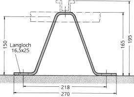 Wandbefestigungsbügel für ebene Bauwerke